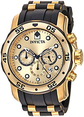 인빅타 Invicta Mens 17885 Pro Diver Ion-Plated Stainless Steel Watch with Polyurethane Band