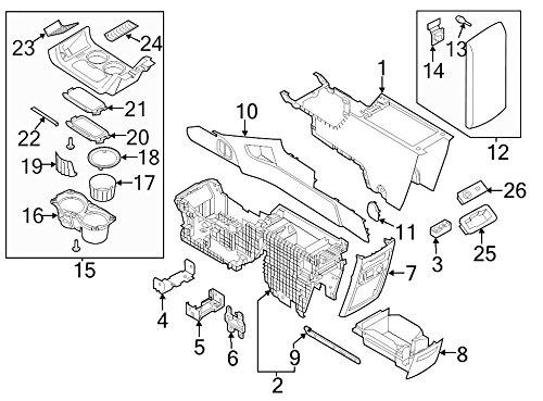 2013-2016 Ford Flex Black Armrest Center Console Lid Cover Pad OEM FA8Z7406024AB
