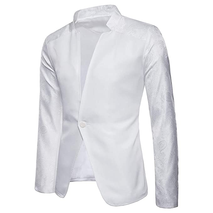 Harpily Chaqueta de Traje para Hombre, Chaqueta de Abrigo Informal Elegante con un botón,