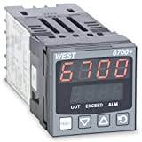 West P6701Z2100000 6700+ Series 1/16 DIN Limit Controller, 100 to 240 VAC, One Latching Relay Output, Red Upper/Red Lower Display