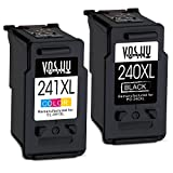 Voshy Remanufactured Canon PG-240 CL-241 Ink Cartridges, High Yield Replacement for Canon Pixma MG3620 TS5120 MX532 MG3520 MX472 MX432 MG4120 MX392 MG2120 MG3120 MG2220 Printer - 1 Black, 1 Tri-Color