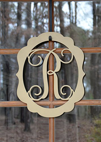 Decorative Oval Metal Monogram Door Hanger, Metal Wall Art