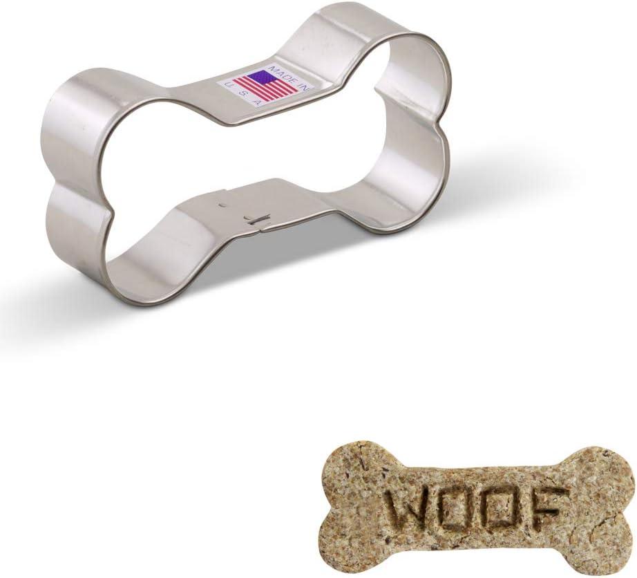 Acero fabricado en EE./UU. 8,9 cm Ann Clark Cookie Cutters Cortador de galletas hueso de perro