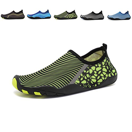 Anluke Zapatos De Agua Calcetines De Yoga Descalzo Slip-on Para Hombres Mujeres Niños Verde