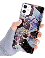 iPhone 11 Cover Siliconen TPU Case Marmeren Spiegel Reflectie Case Plating Terug Cover Ultra Dunne Siliconen Bumper Case Marmeren Case