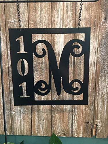 Lamp Post Address Accessory ACM Metal House Street Number Sign Custom Garden Flag QUICK SHIPPING (Lamppost House Number)