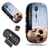 Luxlady Wireless Mouse Travel 2.4G Wireless Mice with USB Receiver, 1000 DPI for notebook, pc, laptop, macdesign IMAGE ID: 26535610 Human skull with keyboard still life
