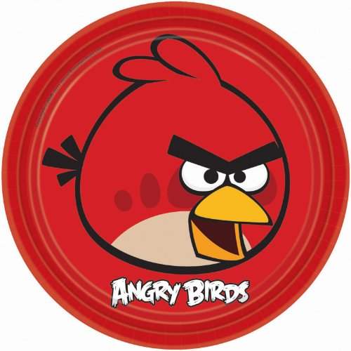 Angry Birds Party Supplies Lunch Plates 8 (Angry Birds Plates)