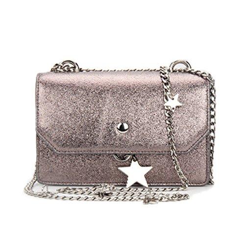 Soirée En Les Pour Sacs Pink Chaîne Sac à De Body Femmes Main Bracelet Avec étoiles Cross En Bags Argent D'embrayage q8pXnw