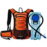 Cheap MIRACOL Hydration Backpack with 2L Water Bladder, Thermal Insulation Pack Keeps Liquid Cool up to 4 Hours, Prefect Outdoor Gear for Skiing, Running, Hiking, Cycling (Orange)