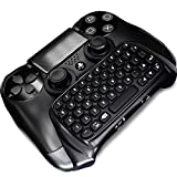 Cheap PS4 Controller Wireless Keyboard, Megadream Mini Bluetooth Chatpad Keyboard for Sony Playstation PS4 Controller – Black