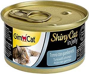جيم كات شايني كات طعام رطب للقطط، تونه والروبيان - 70 غم