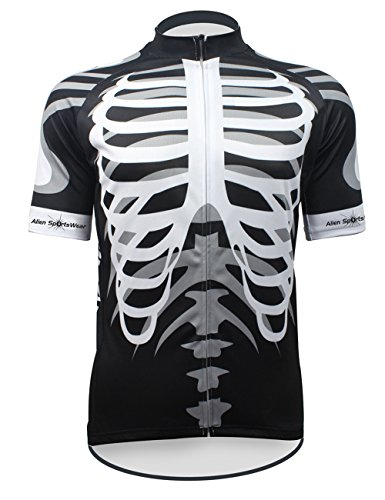 Mens Retro Cycling Jersey Short Sleeve Full Zip Bicycle T Shirt Downhill L