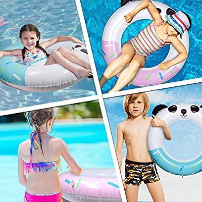 LAFALA Pool Floats Inflatable Swimming Rings Tube Raft Cute Panda Design for Summer Beach Swimming Party Poolside Lounge Raft Decorations Toys Kids Adults(Pink): Toys & Games