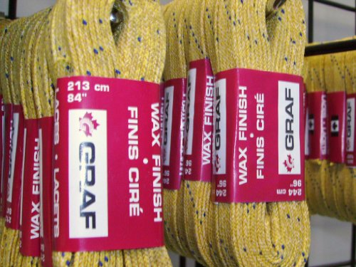 Graf Yellow Skate Laces Length 84 inches