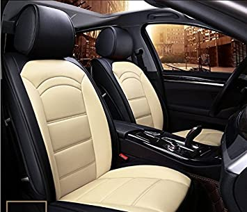 ANKIV FULL SET Universal Fit 5 Seats Car Durable Contrast Color ...