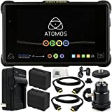 Atomos Shogun Inferno 7'' 4K HDMI/Quad 3G-SDI/12G-SDI Recording Monitor 9PC Accessory Kit. Includes 2 Replacement F970 Batteries + AC/DC Rapid Home & Travel Charger + 2 HDMI Cables + MORE