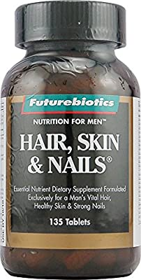 Futurebiotics Hair, Skin & Nails Supplement for Men, Tablets, 135 tablets