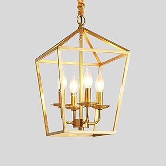 Luz pendiente de cobre creativa, Comedor Araña de jaula Sala Sala ...
