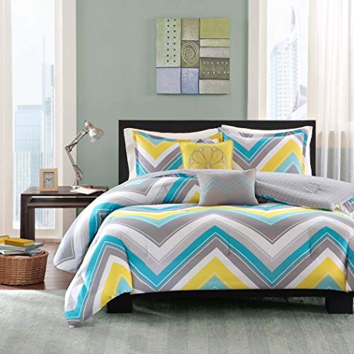 5pc Full Queen Zig Zag Chevron Comforter Set Teenage Girls o