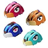 Kids Cycling Helmet Cartoon Animal Youth Bicycle Skateboard Bike Helmet