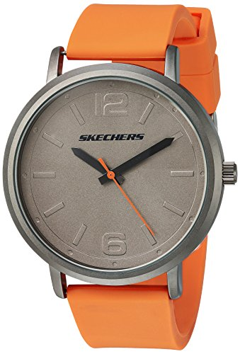 Skechers Men's 'The Ardmore' Quartz Metal and Silicone Casual Watch, Color:Orange (Model: SR5048)