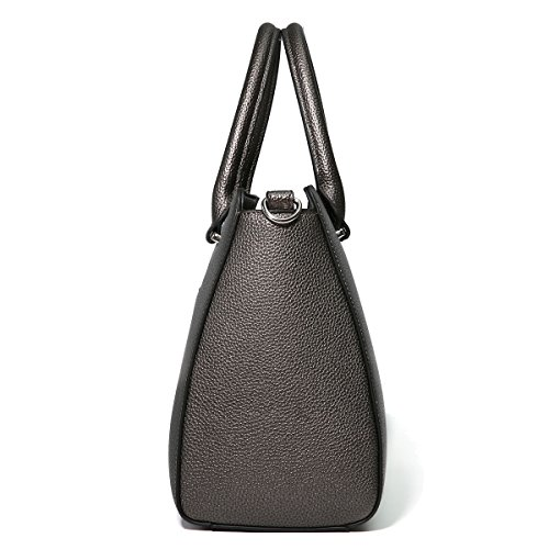 Nickel Handle Pu Shoulder Ladies Handbags Black Purse Tote Luxury Kadell Top Bags Satchel Leather Women's AFPOnxFEqT