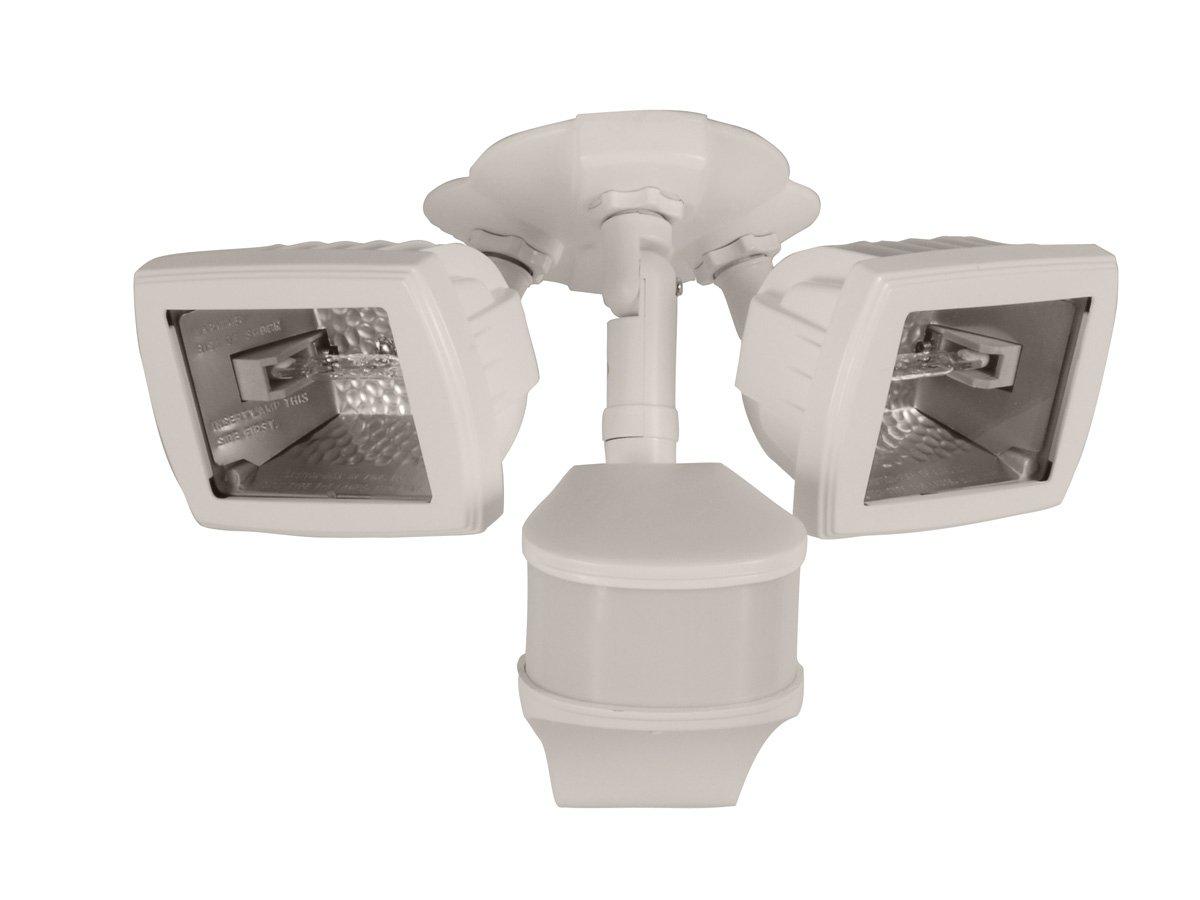 All Pro Ms280dw 270 Degree 200w Light Type Halogen Precision Plus Doppler Radar Motion Security Floodlight White Flood Lighting Com