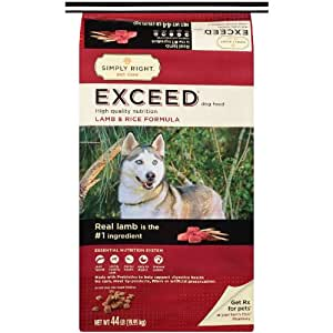 Exceed Lamb And Rice Dry Dog Food