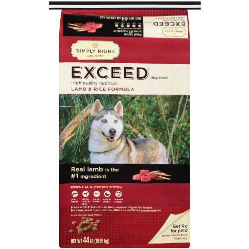 Simply Right Exceed Lamb and Rice Formula Dog Food – 44 lb. Review