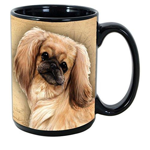 Imprints Plus Dog Breeds (E-P) Pekingese 15-oz Coffee Mug Bundle with Non-Negotiable K-Nine Cash (pekingese 123)