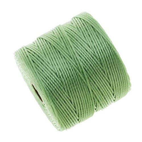 Beadsmith Super-Lon (S-Lon) Cord - Size #18 Twisted Nylon - Mint Green/77 Yard Spool