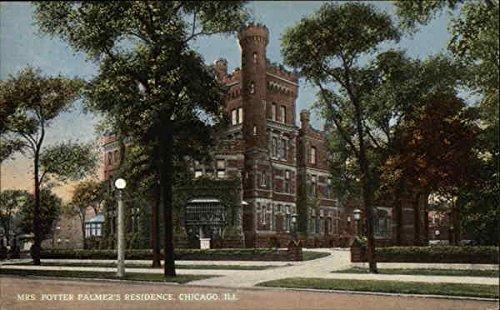Mrs. Potter Palmer's Residence Chicago, Illinois Original Vintage Postcard