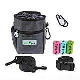 PET N PET Dog Treat Training Pouch-3 Ways To Wear Dog Treat Pouch With Built-In Poop Bag Dispenser-(3 Roll Poop Bags Included)