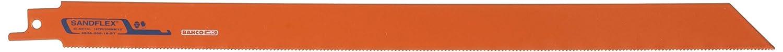 Bahco 3840-300-18-ST-10P 18 TPI Sand Flex ST Bi-Metal Reciprocating Blade Orange 300 mm Set of 10 Pieces
