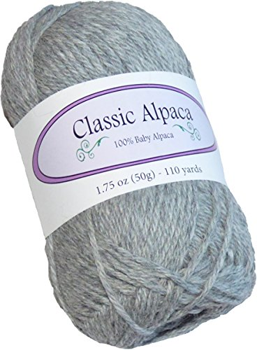 Classic Alpaca 100% Baby Alpaca Yarn #401 Liberty Gray, used for sale  Delivered anywhere in USA