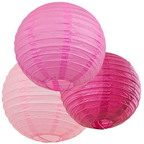 Bobee Pink Paper Lantern Set