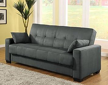 pearington mia microfiber sofa sleeper bed u0026 lounger with storage