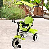 Best Baby Bike Strollers - Costzon 4-in-1 Kids Steer Tricycle Stroller Bike w/Canopy Review