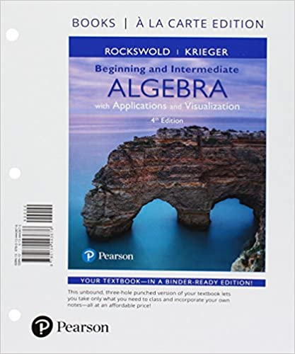 Beginning and intermediate algebra with applications visualization beginning and intermediate algebra with applications visualization books a la carte edition plus mylab math access card package 4th edition 4th fandeluxe Choice Image