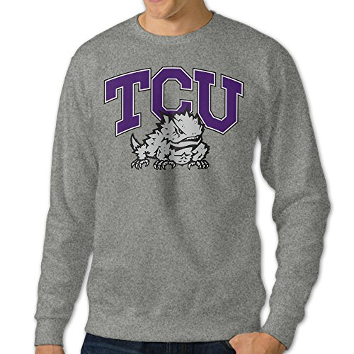 - TCU Horned Frogs University Logo Crewneck Sweatshirt Ash