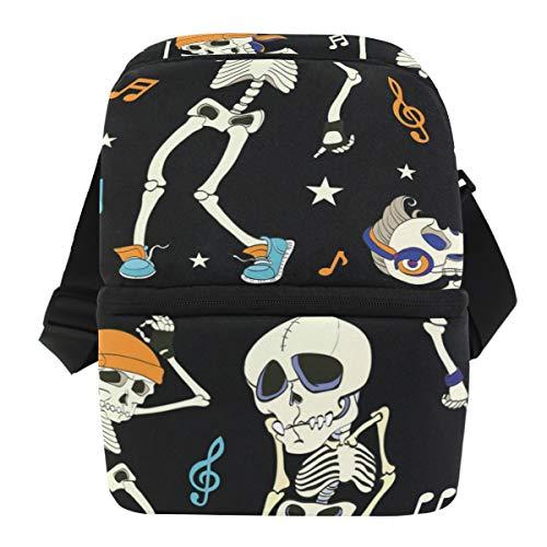 MAHU Business Lunch Bag Music Note Skull Halloween