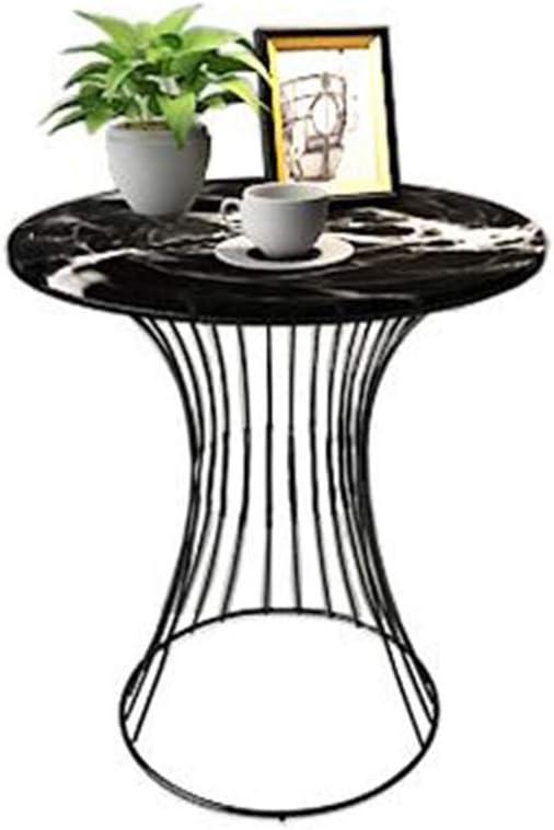 Bestseller JCNFA BIJZETTAFEL Side Table, Ronde Koffietafel Nachtkastje marmeren tafelblad Metal Line Frame Single Layer, Sofa Table for Living Room (Color : B3) A2 Z6d6ijf