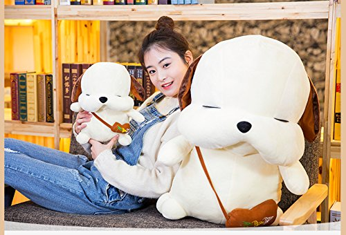 Lovely Embroidery Cuddly Ins Cartoon Cute Puppy Dog Stuffed Animals 3D Plush Lumbar Soft Hugging Figure Bolster Bed Cushion Nursery Home Office Decor Baby Play Toy Sleeping Throw Pillow Gift White by ORGEN HOME (Image #6)