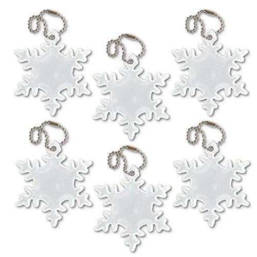Do It Yourself Girl Halloween Costumes (funflector Safety Reflector - Snowflake - White - 6-pack)