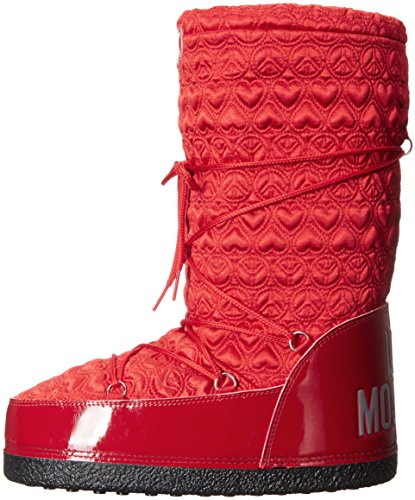 Love Moschino Women's Peace Moonboot Snow Boot, Red, 38 EU/8 M US by Love Moschino (Image #5)