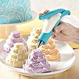 Cake Decorating Pen Cake Tools Cookie Decorating Supplies Cake Decorating Mouth Food Writing Pen DIY Kit 4pcs Icing Nozzle Tips 4 Pastry Icing Piping Bag 2 Converters 1 Decorating Pen (Blue) Yxaomite