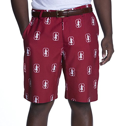 NCAA Adult Men's Game Changer Shorts, Stanford Cardinal, 38, Red (Shorts Stanford Mens)