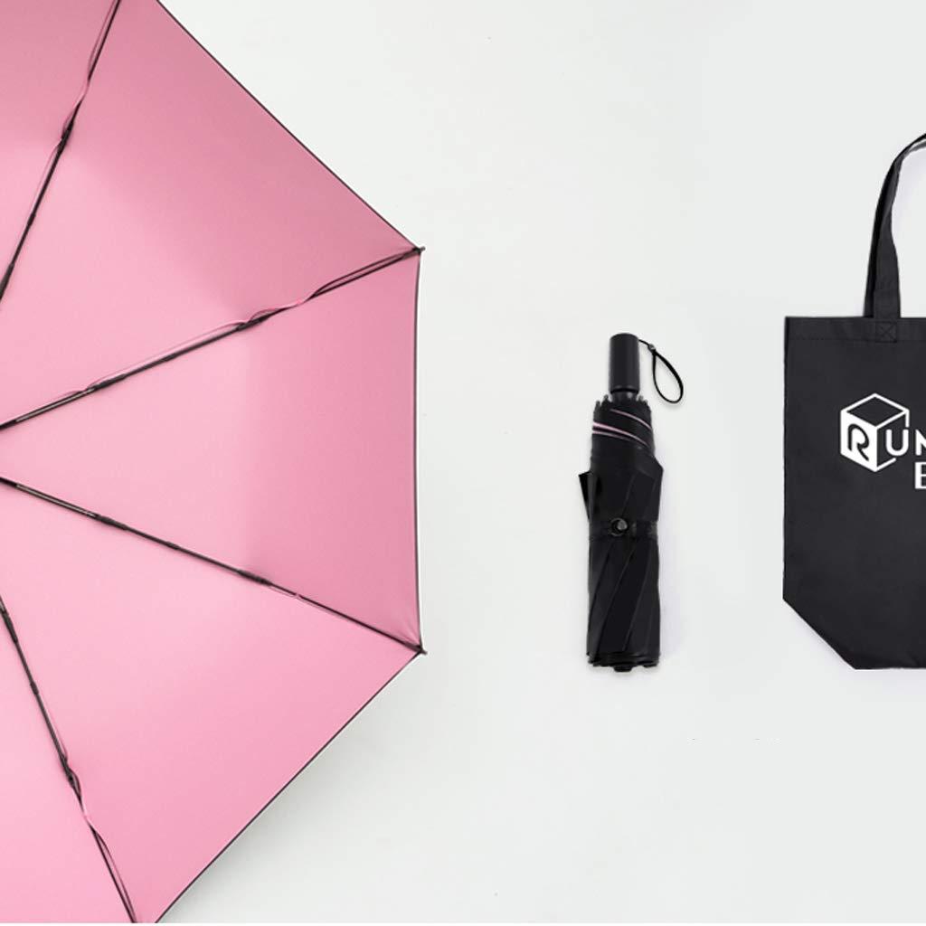 Rose  HBJP Parapluie Parasols Anti-avoitureiens Anti-UV Parasols pliants Parasols de Pluie et de Pluie Cinq Couleurs Disponibles (Couleur   Jaune)