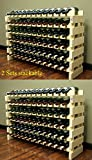 Stackable Modular Wine Rack Stackable Storage Stand Display Shelves, Wobble-Free, Pine
